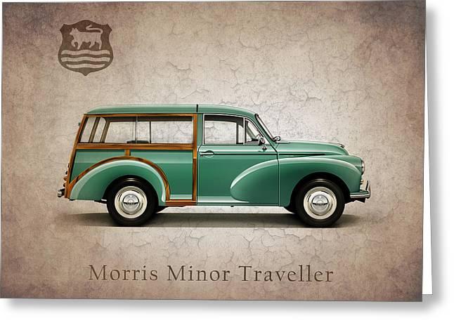 Minor Greeting Cards - Morris Minor Traveller 1965 Greeting Card by Mark Rogan