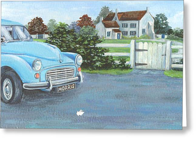 Driving Greeting Cards - Morris Greeting Card by Peter Adderley