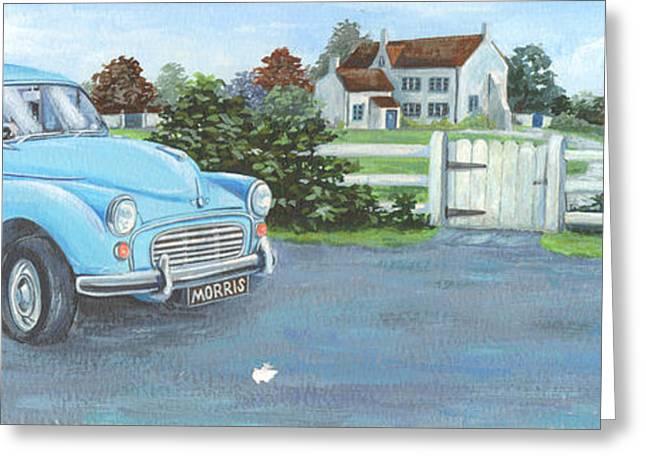 Rural House Greeting Cards - Morris Greeting Card by Peter Adderley