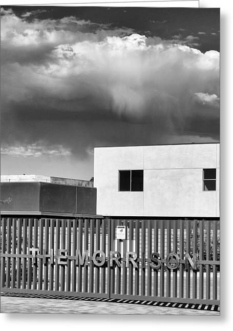 Storm Prints Greeting Cards - MORRISON CLOUD BW Palm Springs Greeting Card by William Dey