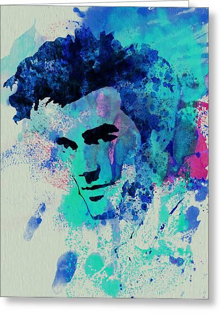 British Portraits Greeting Cards - Morrissey Greeting Card by Naxart Studio
