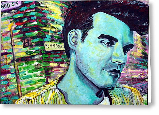 Morrissey Greeting Card by Kat Richey
