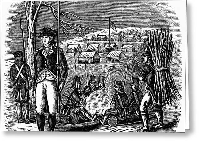 Bayonet Greeting Cards - Morristown: Encampment Greeting Card by Granger