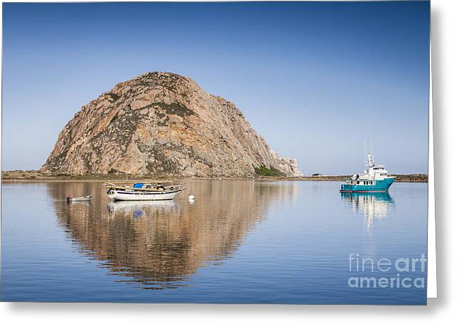 Morro Bay Greeting Cards - Morro Bay Calfornia Greeting Card by Colin and Linda McKie