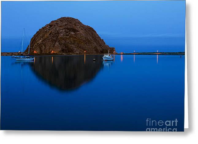 Morro Bay Calm Morning Greeting Card by Terry Garvin