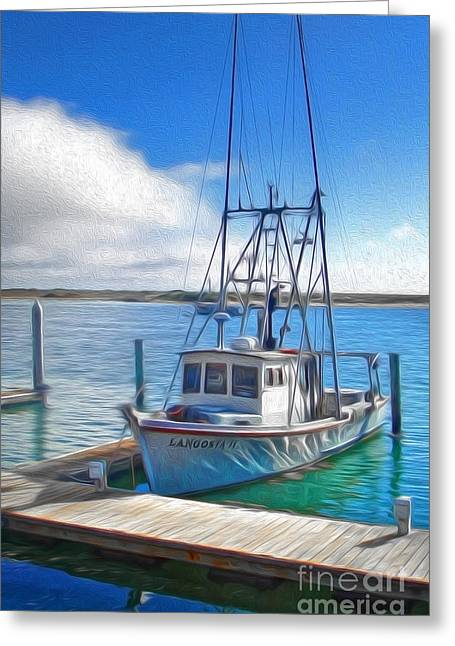 Morro Bay Fishing Boat Greeting Card by Gregory Dyer