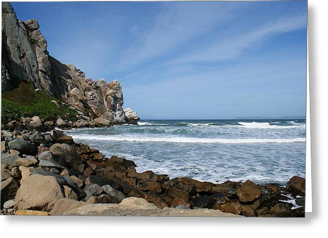 Morro Bay Greeting Cards - Morro Bay Rock Greeting Card by Ernie Echols