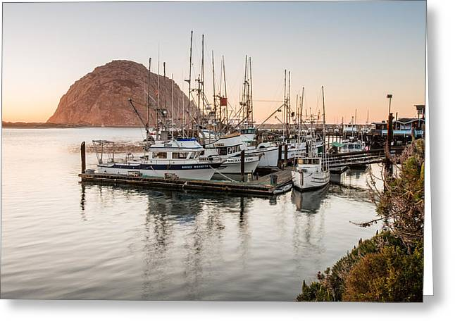 Water Vessels Greeting Cards - Morro Bay Series Four Greeting Card by Josh Whalen