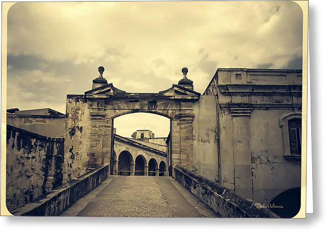 Castillo San Felipe Greeting Cards - Morro Castle San Juan Greeting Card by Julie Palencia