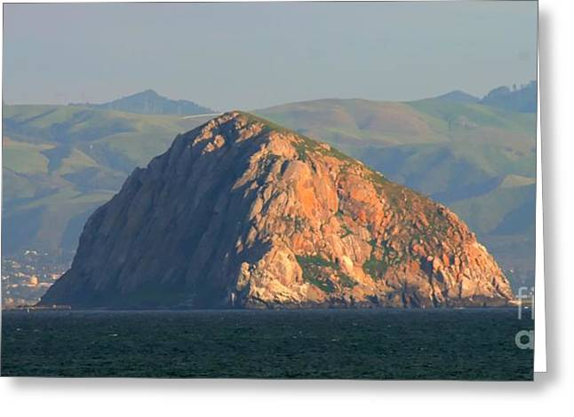 Nine Sisters Greeting Cards - Morro Rock Greeting Card by Tap  On Photo
