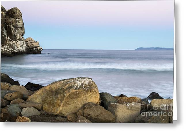 Terry Garvin Greeting Cards - Morro Rock Morning Greeting Card by Terry Garvin