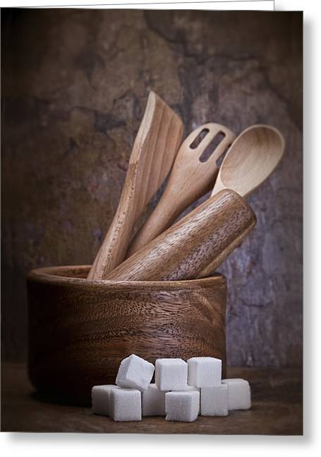 Mortar And Pestle Still Life II Greeting Card by Tom Mc Nemar