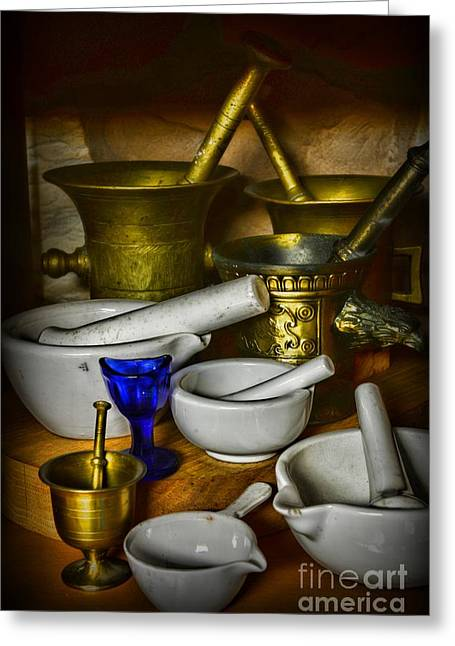 Md Greeting Cards - Mortars and Pestles Greeting Card by Paul Ward