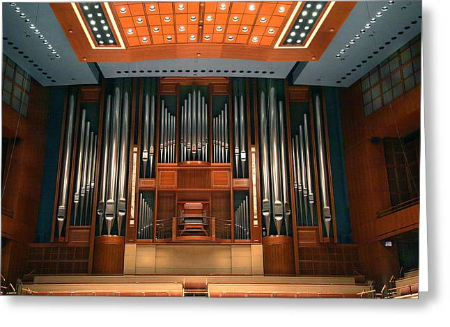 Acoustical Photographs Greeting Cards - Morton H. Meyerson Symphony Center Greeting Card by Greg Kopriva