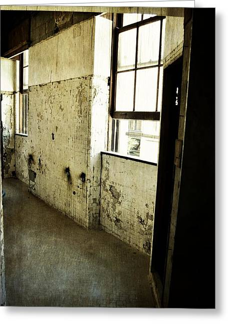 Worn In Greeting Cards - Morton Hotel Interior Greeting Card by Michelle Calkins
