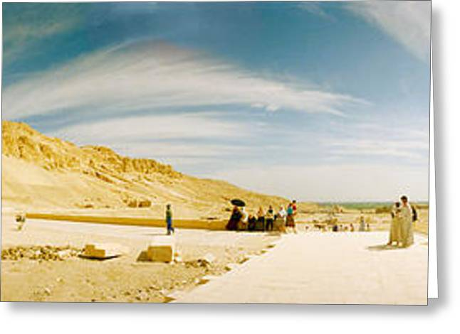 Civilization Greeting Cards - Mortuary Temple Of Hatshepsut At Deir Greeting Card by Panoramic Images