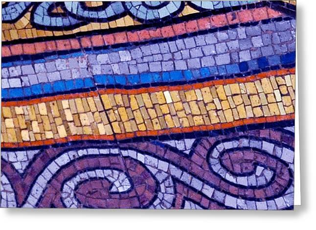 Mosaic Abstract 2 Greeting Card by Tony Rubino