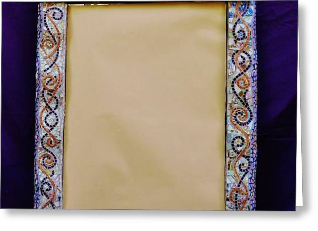 Mosaic Fan Frame Greeting Card by Charles Lucas