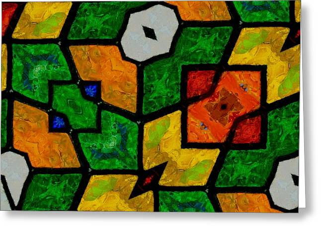 Solving Greeting Cards - Mosaic Pattern Greeting Card by Dan Sproul