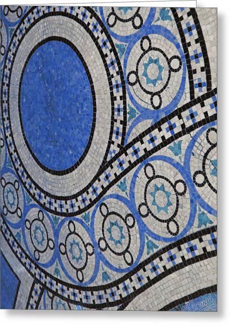Mosaic Perspective Greeting Card by Tony Rubino