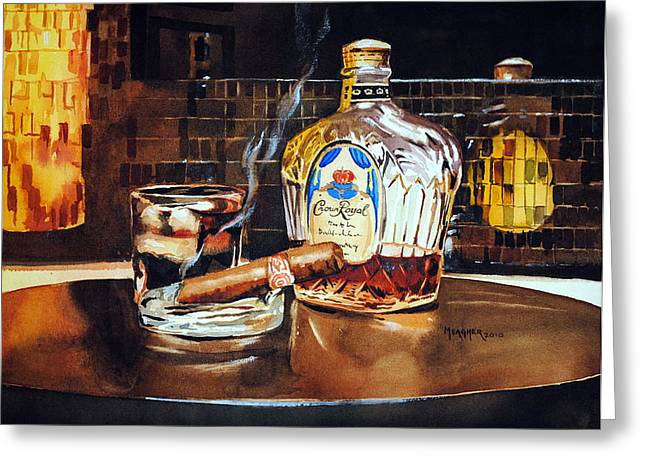 Cigar Greeting Cards - Mosaic Reflections Greeting Card by Spencer Meagher