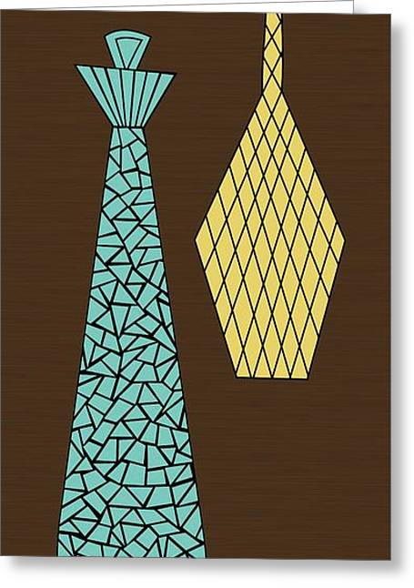 Decanters Digital Art Greeting Cards - Mosaics 1 Greeting Card by Donna Mibus