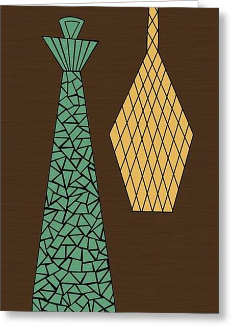 Decanters Digital Art Greeting Cards - Mosaics 3 Greeting Card by Donna Mibus
