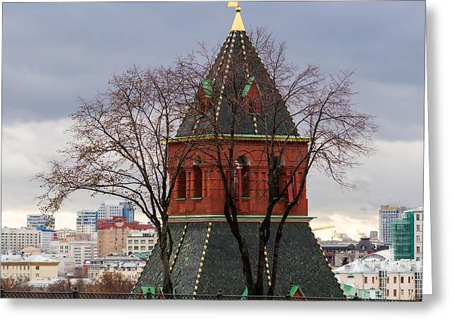 Civilization Greeting Cards - Moscow As Viewed From The Kremlin - Square Greeting Card by Alexander Senin