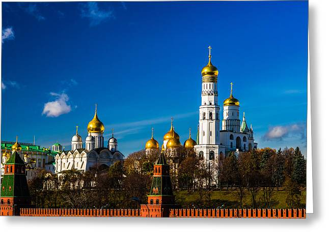 Archangel Greeting Cards - Moscow Kremlin Cathedrals Greeting Card by Alexander Senin