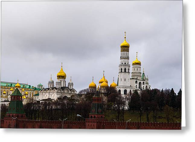 Archangel Greeting Cards - Moscow Kremlin Cathedrals - Featured 3 Greeting Card by Alexander Senin
