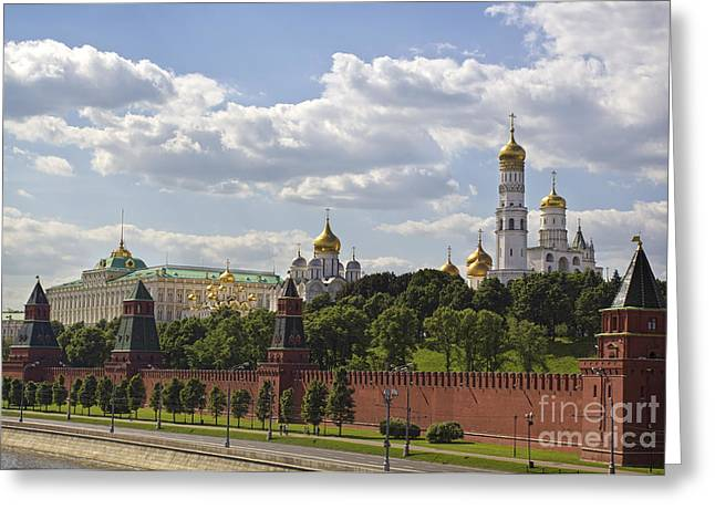 Dominion Greeting Cards - Moscow Kremlin Greeting Card by Elena Nosyreva