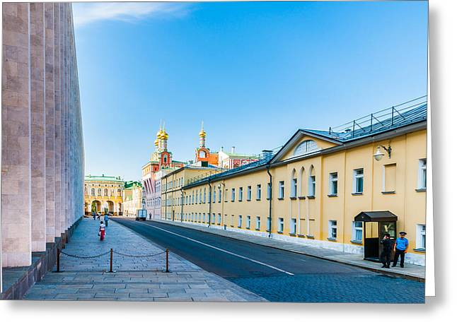 Outdoor Theater Greeting Cards - Moscow Kremlin Tour - 09 of 70 Greeting Card by Alexander Senin