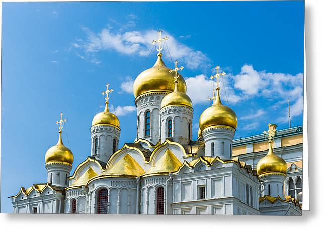Cupola Greeting Cards - Moscow Kremlin Tour - 46 of 70 Greeting Card by Alexander Senin