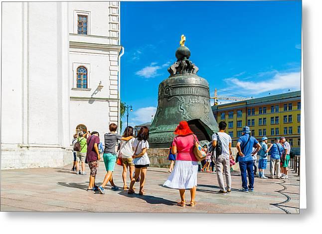 Metall Greeting Cards - Moscow Kremlin Tour - 50 of 70 Greeting Card by Alexander Senin