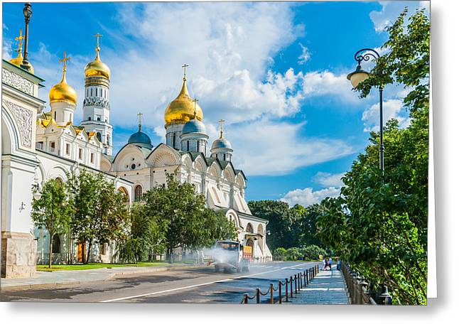 Archangel Greeting Cards - Moscow Kremlin Tour - 56 of 70 Greeting Card by Alexander Senin