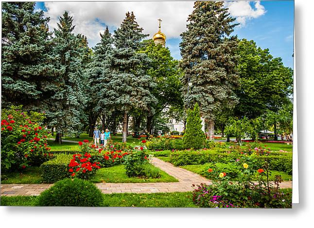 Rosary Greeting Cards - Moscow Kremlin Tour - 60 of 70 Greeting Card by Alexander Senin