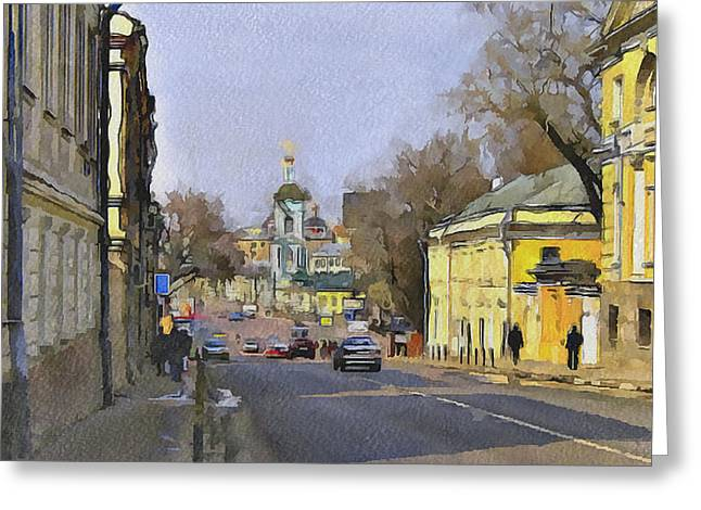 Old Street Greeting Cards - Moscow Old Streets 10 Greeting Card by Yury Malkov