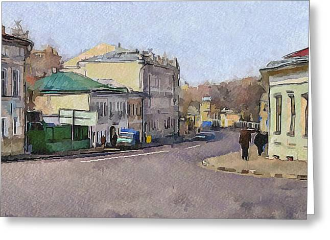 Old Street Greeting Cards - Moscow Old Streets 14 Greeting Card by Yury Malkov