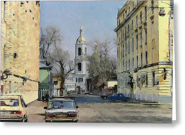 Old Street Greeting Cards - Moscow Old Streets 15 Greeting Card by Yury Malkov