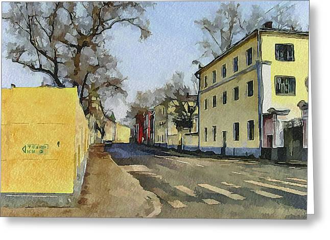 Old Street Greeting Cards - Moscow Old Streets 16 Greeting Card by Yury Malkov
