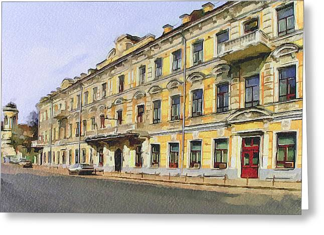 Old Street Greeting Cards - Moscow Old Streets 2 Greeting Card by Yury Malkov