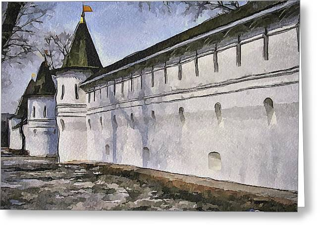 Old Street Greeting Cards - Moscow Old Streets 22 Greeting Card by Yury Malkov