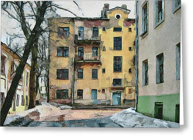 Old Street Greeting Cards - Moscow Old Streets 23 Greeting Card by Yury Malkov