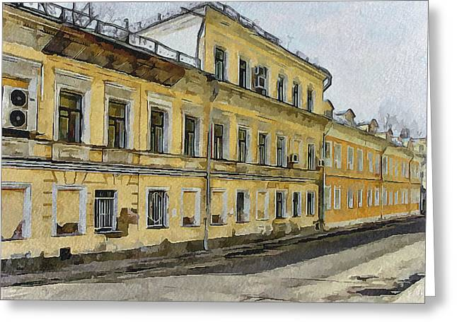 Moscow Digital Greeting Cards - Moscow Old Streets 24 Greeting Card by Yury Malkov