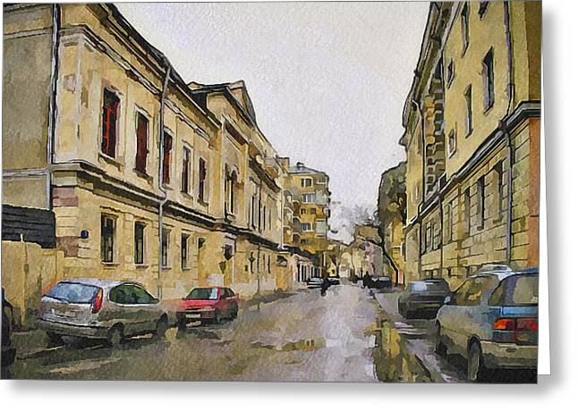 Old Street Greeting Cards - Moscow Old Streets 25 Greeting Card by Yury Malkov