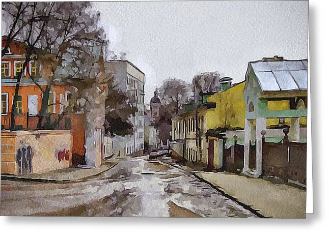 Old Street Greeting Cards - Moscow Old Streets 27 Greeting Card by Yury Malkov
