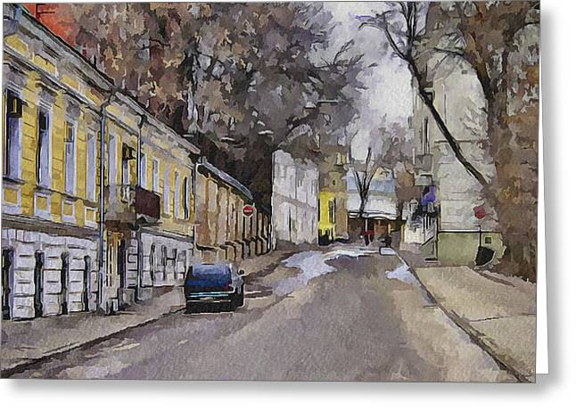 Old Street Greeting Cards - Moscow Old Streets 28 Greeting Card by Yury Malkov