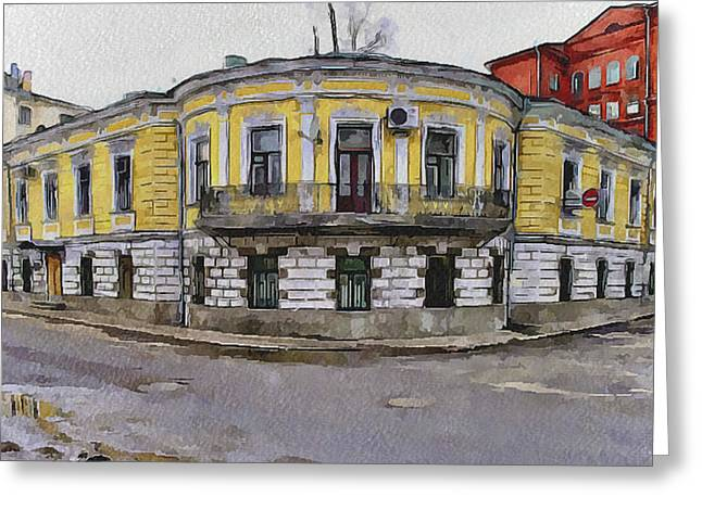 Old Street Greeting Cards - Moscow Old Streets 33 Greeting Card by Yury Malkov