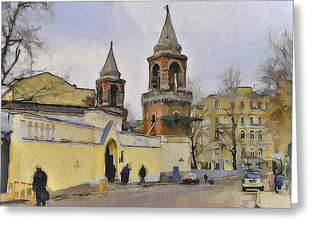 Old Street Greeting Cards - Moscow Old Streets 5 Greeting Card by Yury Malkov