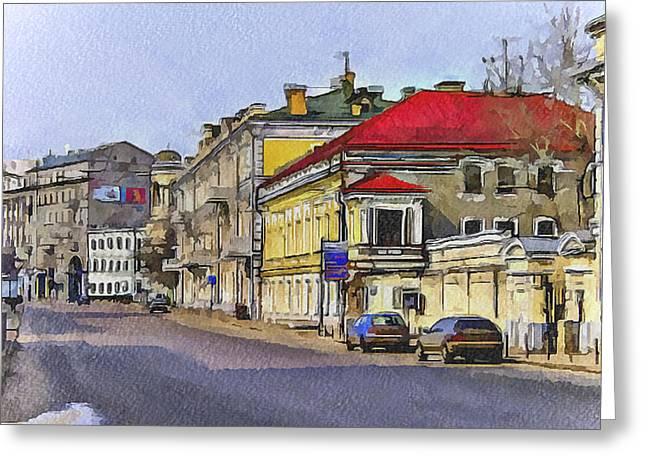 Old Street Greeting Cards - Moscow Old Streets 6 Greeting Card by Yury Malkov